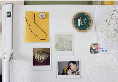 Fridge Paraphernalia and Polaroid Magnets