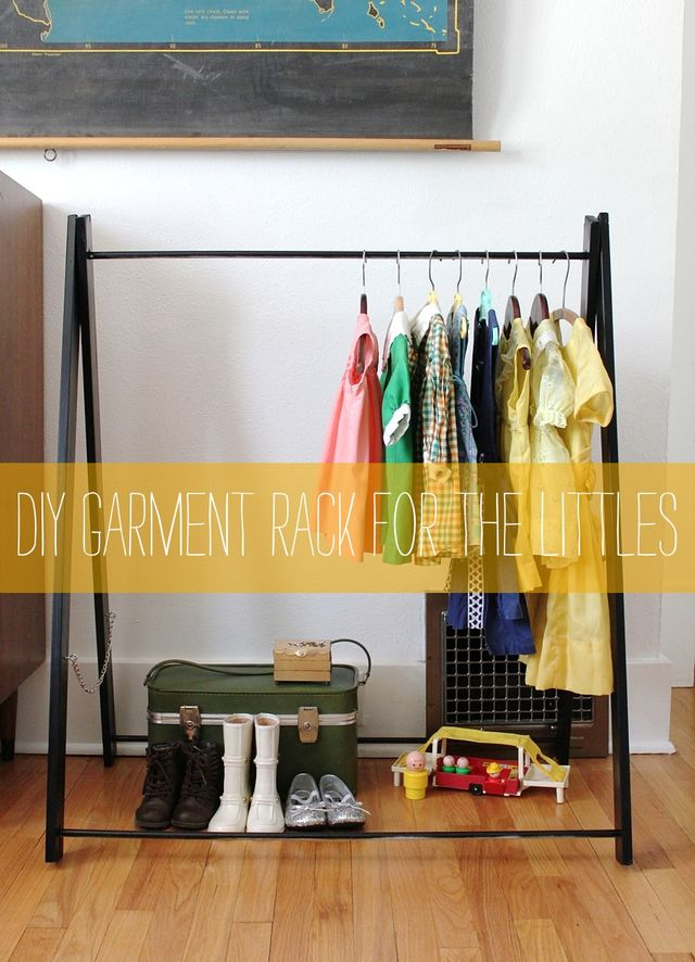 Diy Garment Rack For The Littles Smile And Wave