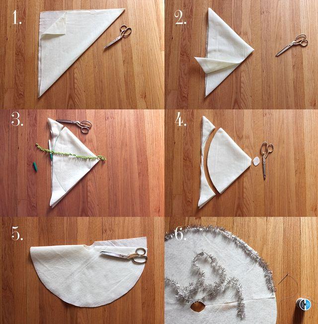 Vintage Inspired Tree Skirt DIY