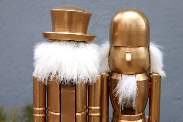 Spray Painted Nutcracker Army