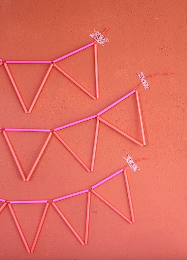Straw Banner DIY