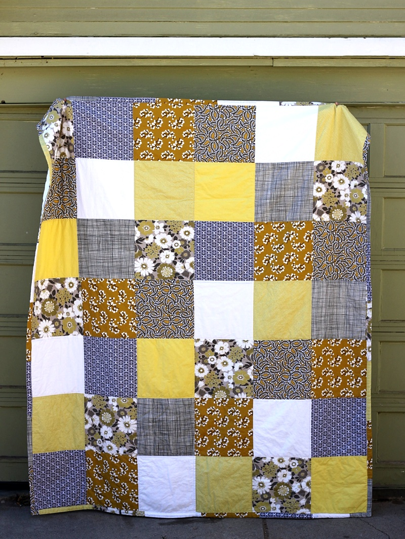 Square Patchwork Quilt DIY - Smile And Wave : simple patchwork quilt - Adamdwight.com