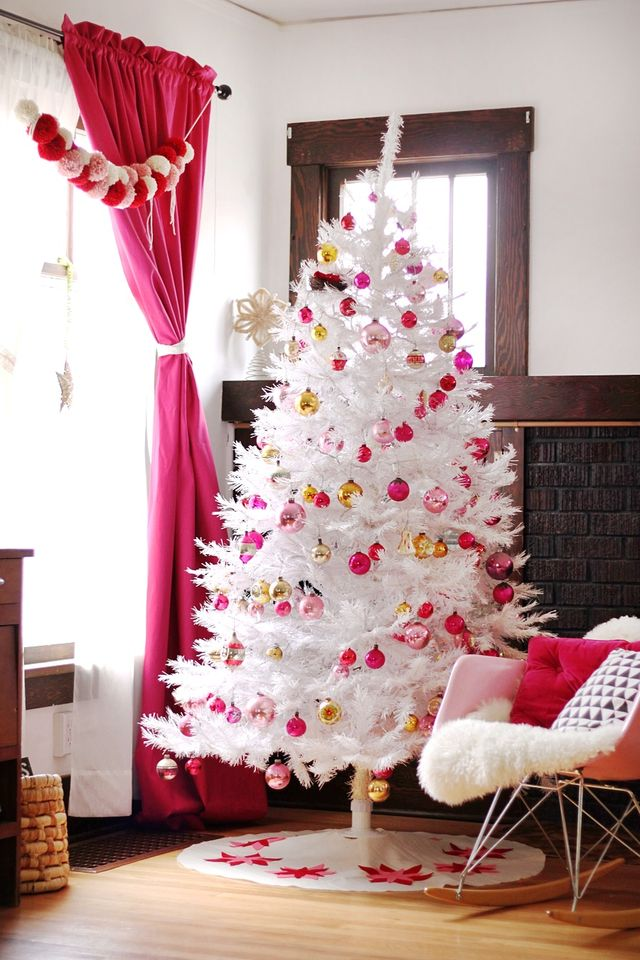 White Tree with Vintage Decor