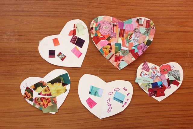 Collage Valentines.