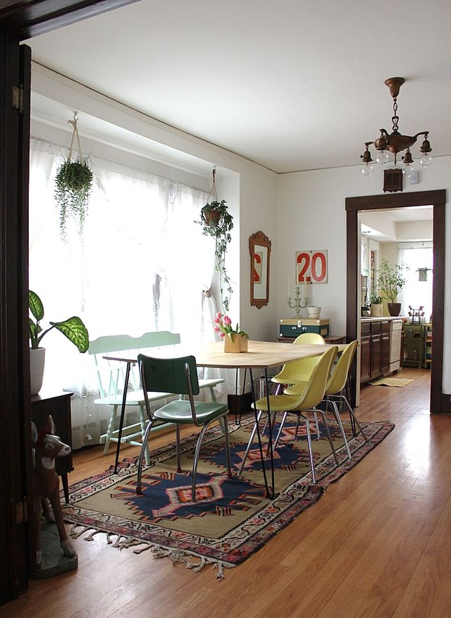 Dining Room Hanging Plants