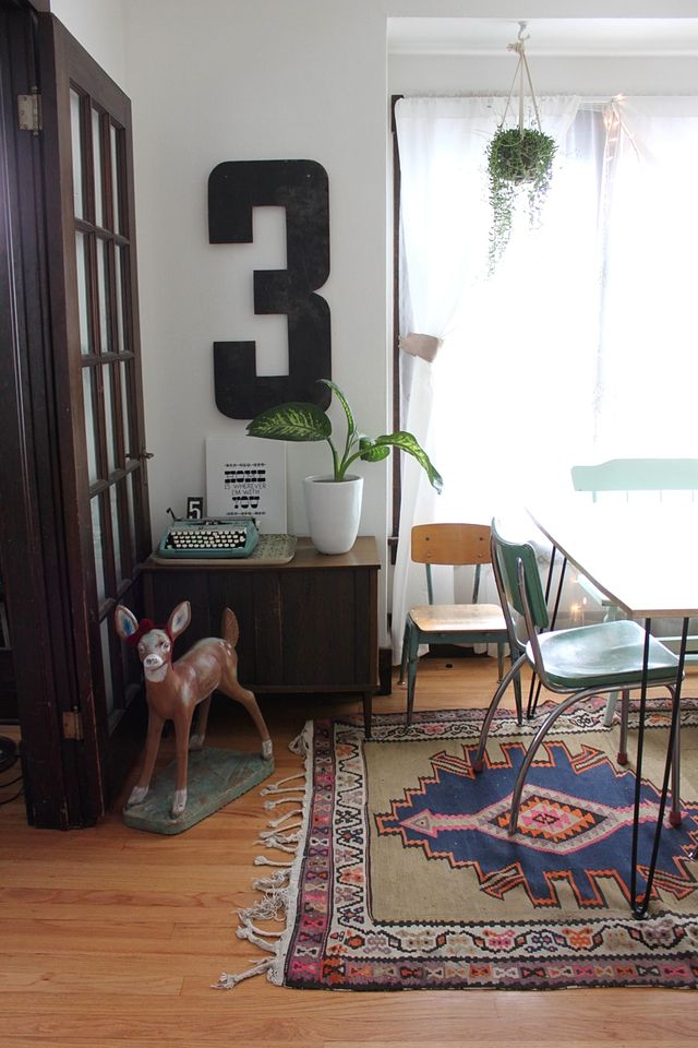Dining Room Corner with String of Pearls
