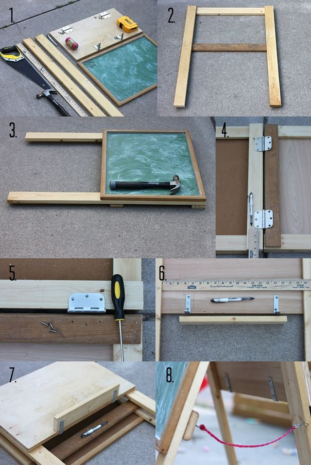 Art Easel DIY Steps