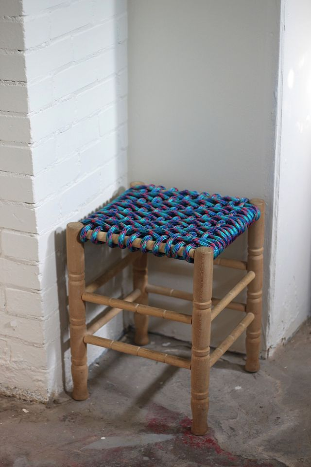 WOven Stool Cover DIY 2