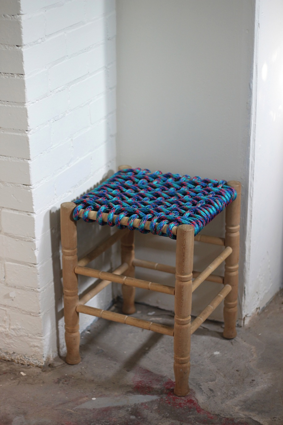 Amazing 40 Projects Just For Fun Woven Stool Diy Smile And Wave Ibusinesslaw Wood Chair Design Ideas Ibusinesslaworg