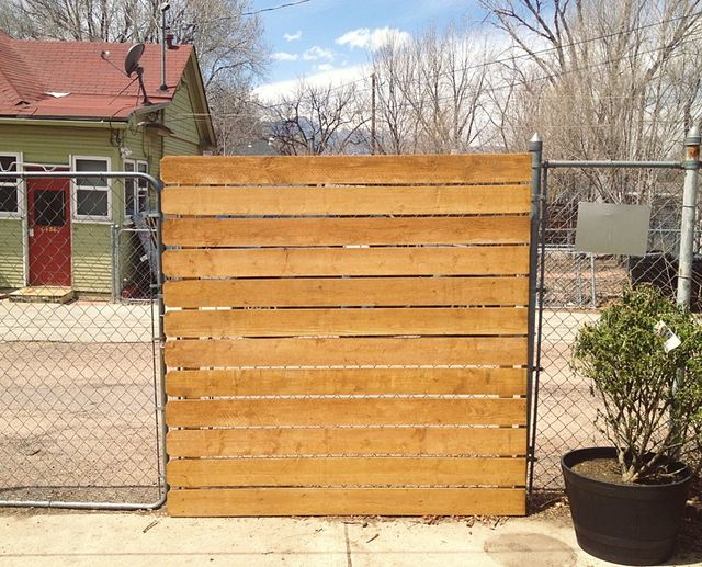 Cedar Panel Privacy Fence