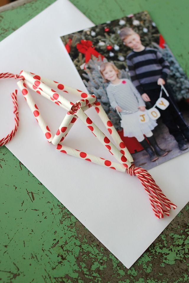 Christmas Card Ornament DIY