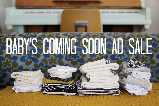 Baby's Coming Soon Ad Sale