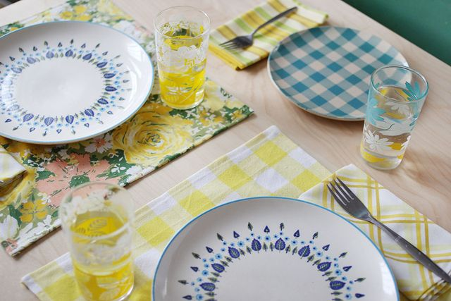 Easy Napkin and Placemat DIY