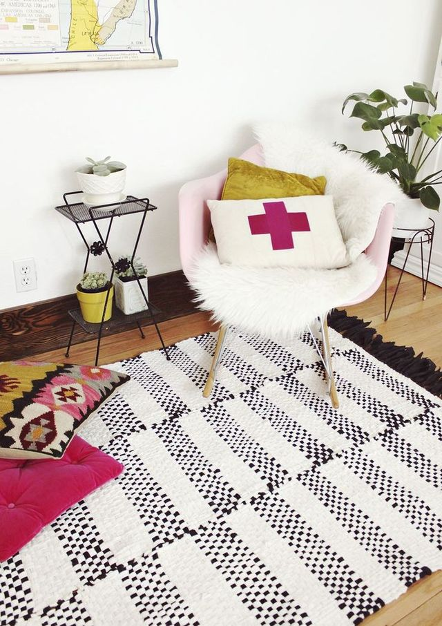 Cover Floors with Bold Rugs