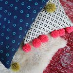 Pom Pom Oversized Floor Pillow Tutorial