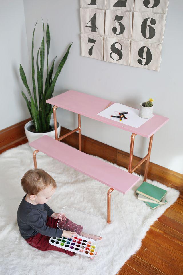 Copper Pipe Desk Tutorial