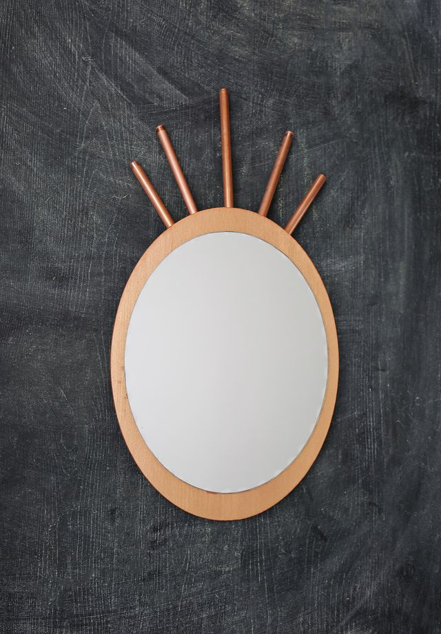 Pineapple Mirror DIY for A Beautiful Mess