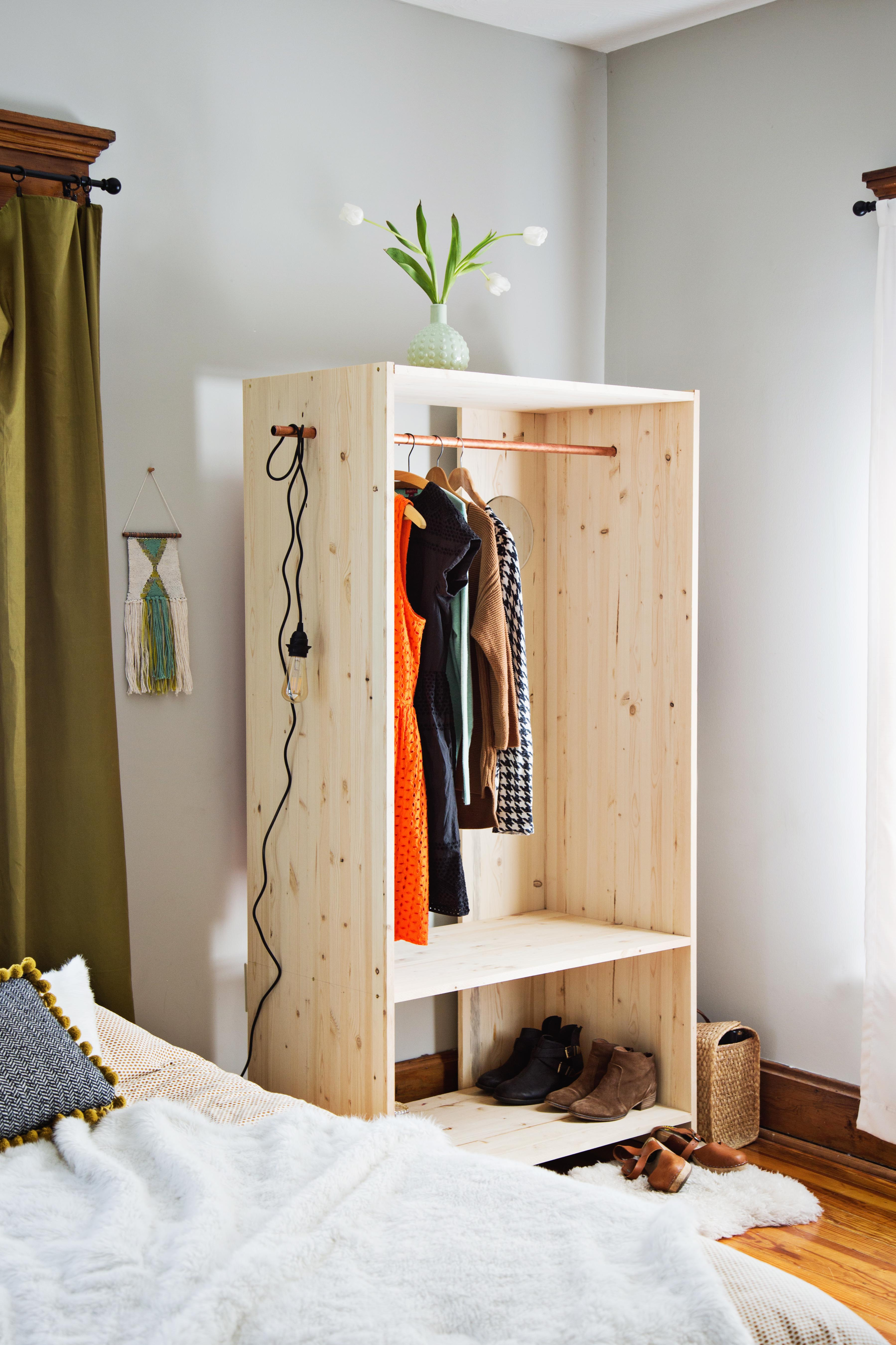 Modern Wooden Wardrobe DIY A Beautiful Mess