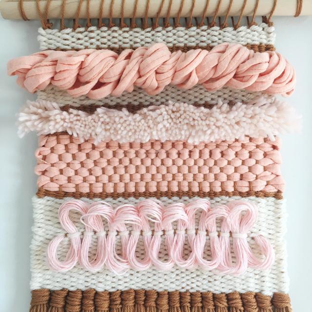 Weaving Woven Wall Hanging Texture by Rachel Denbow (13)