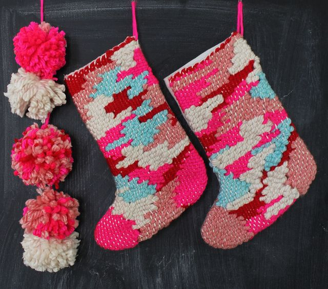 Woven Christmas Stocking Tutorial