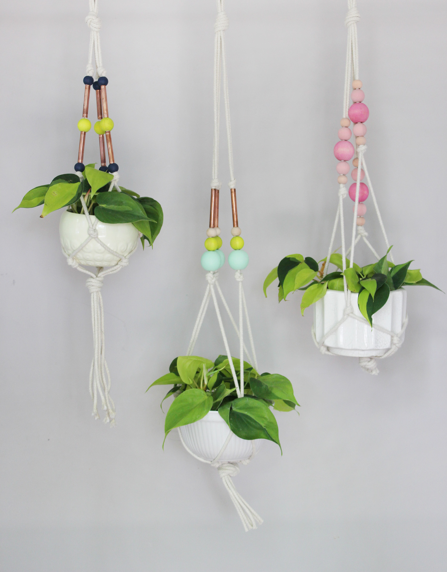 Hanging Planter Colorful Copper Pipe Hanging Planter A Beautiful Mess
