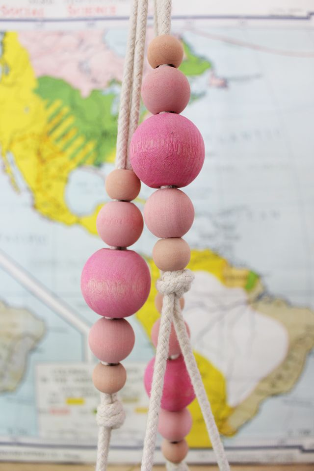 Hand-Painted Pink Beads