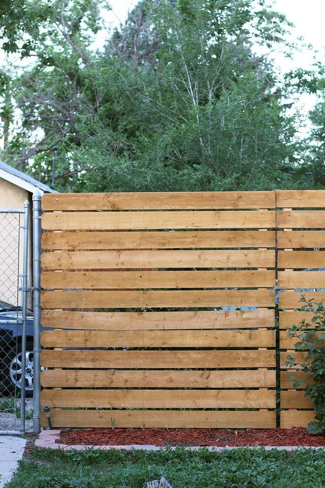 Cover Ugly Chain Link with Cedar Panels