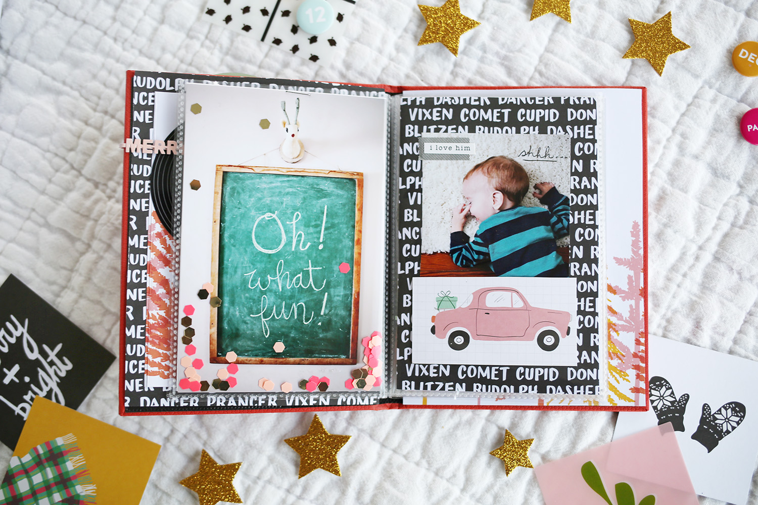 How to scrapbook a road trip - I Made Sure To Include Photos Of The Kids And Journal Some Of The Elements Of This Year S Build Up To Christmas So I Don T Forget That Time One Of Them