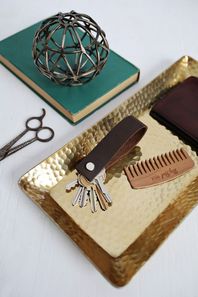 Make a leather keychain for your sweetheart this Valentine's Day. Get the easy tutorial at www.aBeautifulMess.com
