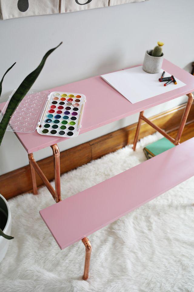 Children's Copper Desk DIY