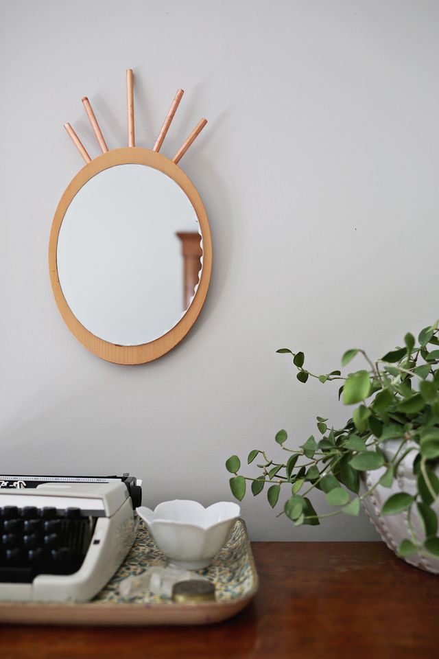 Pineapple mirror DIY