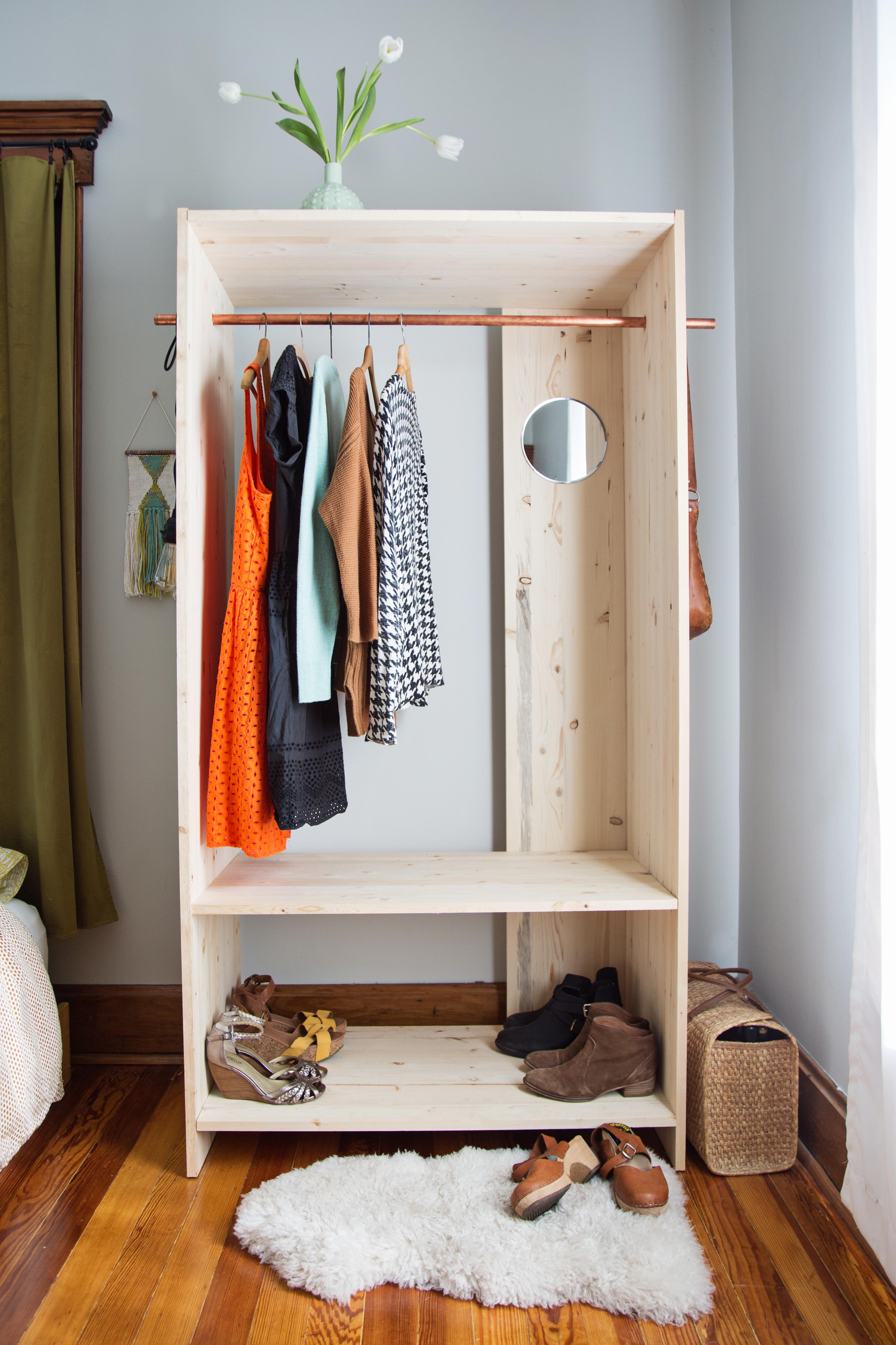 Modern Wooden Wardrobe DIY - A Beautiful Mess