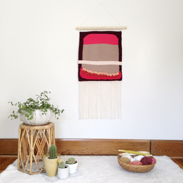 Weaving Woven Wall Hanging Tapestry by Rachel Denbow 2