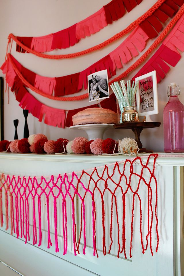Throw your family a valentine party that is heavy on decor but light on your budget