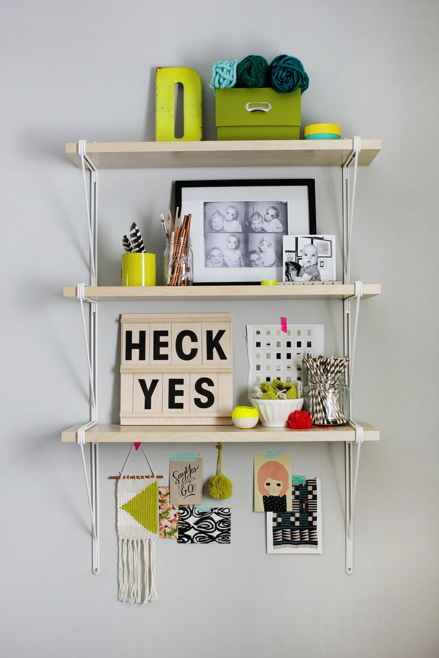 Keep yourself motivated with this acrylic message board that doubles as a perpetual calendar. Find out how to make your own on www.abeautifulmess.com