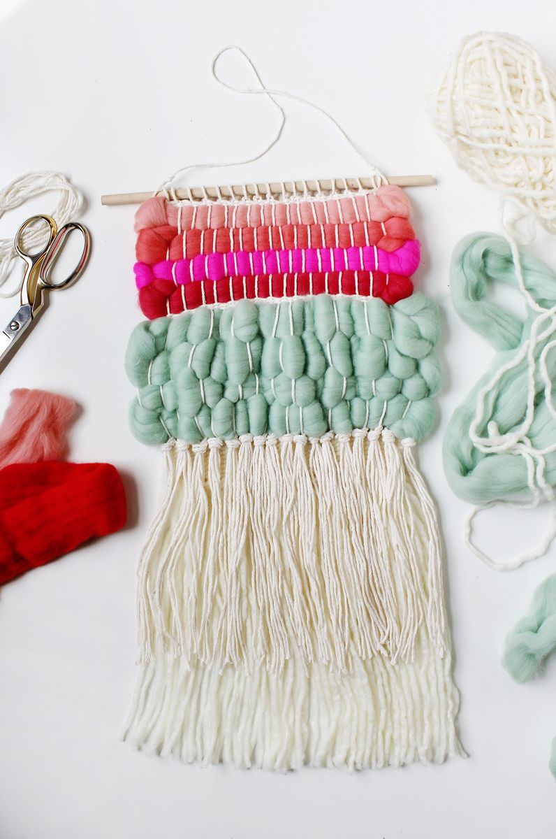 weaving with wool roving a beautiful mess. Black Bedroom Furniture Sets. Home Design Ideas