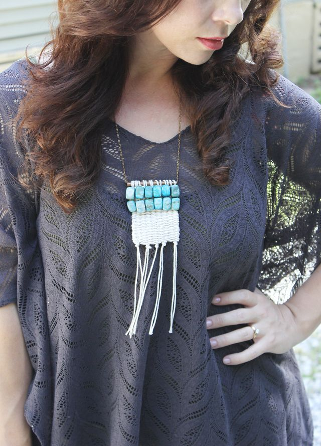 Woven Stone Necklace