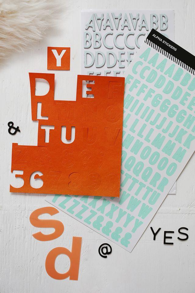 Alpha Stickers for Snapfish Calendar DIY