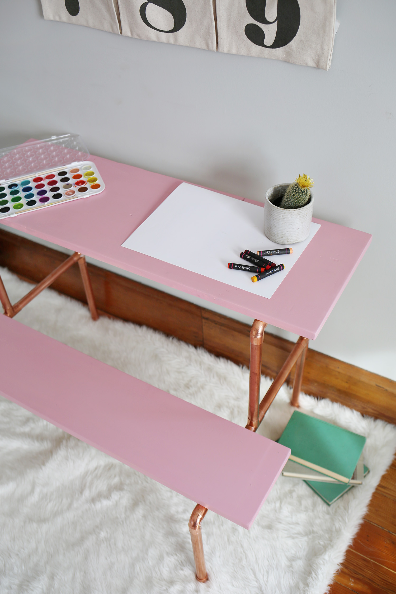 Copper Pipe Desk Tutorial Child Sized Copper Pipe Desk Tutorial