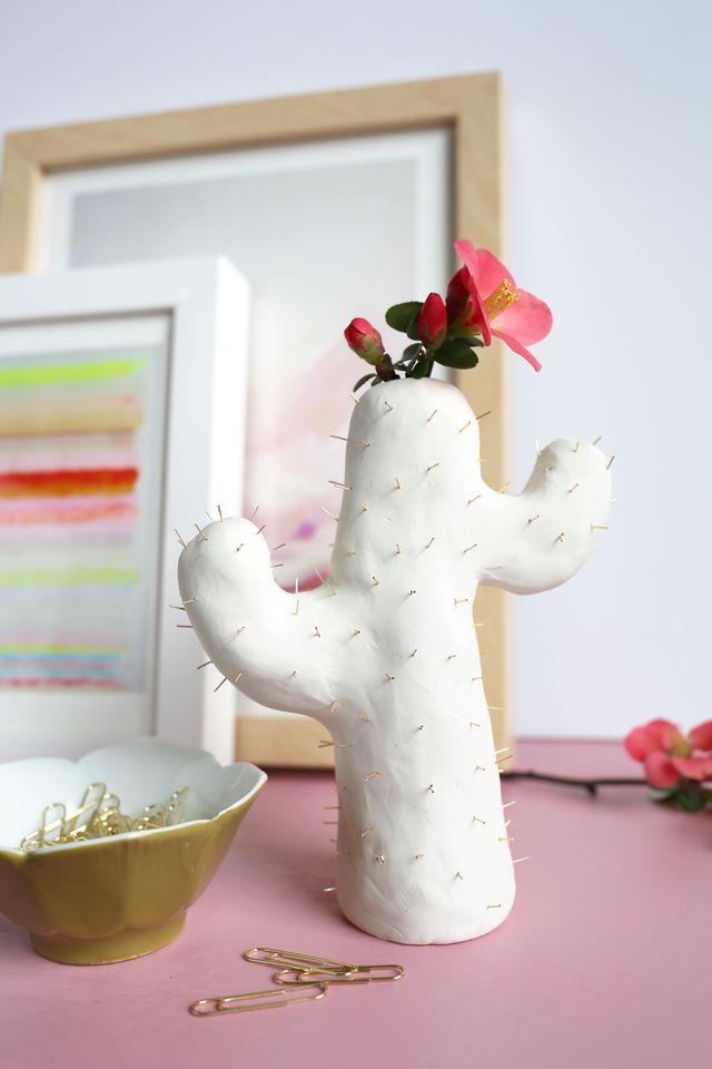 The clay cactus bud vase of your dreams.