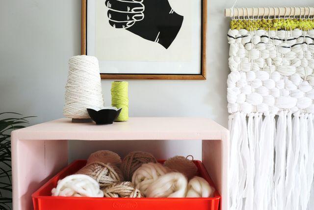 Glidden Complete-Stain Blocking paint bookshelf makeover