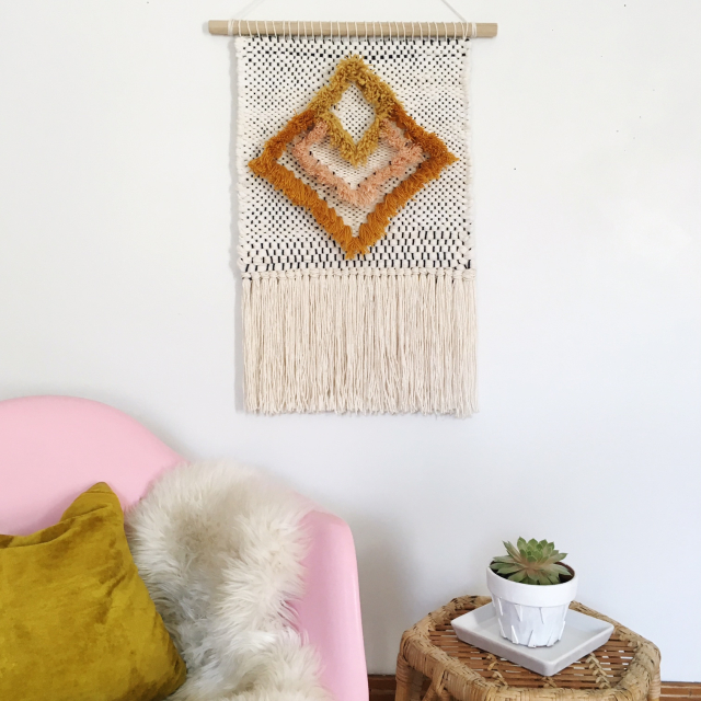 Weaving Woven Wall Hanging by Rachel Denbow 3